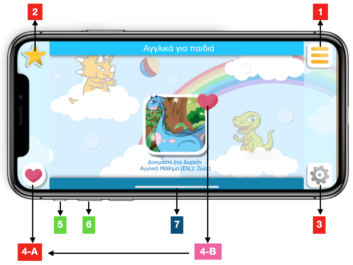 dinolingo-app-instructions-gr